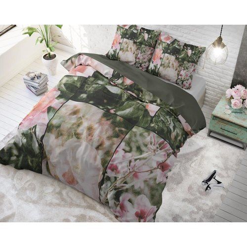 Dreamhouse Dreamhouse Flower Fashion Art Green Dekbedovertrek