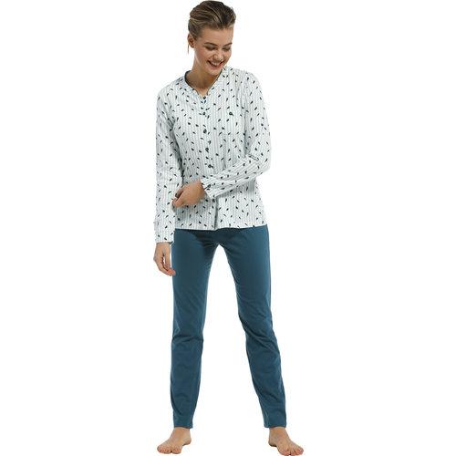 Pastunette Pastunette dames pyjama stripes & birds