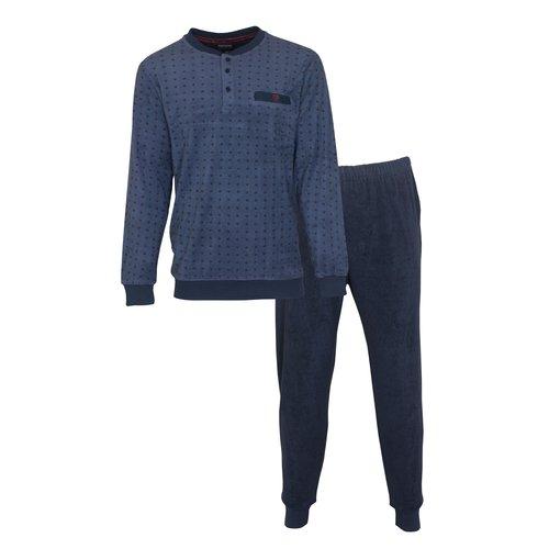 Paul Hopkins Paul Hopkins badstof heren pyjama blauw