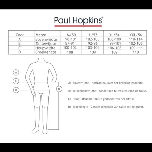 Paul Hopkins Paul Hopkins badstof heren pyjama brown