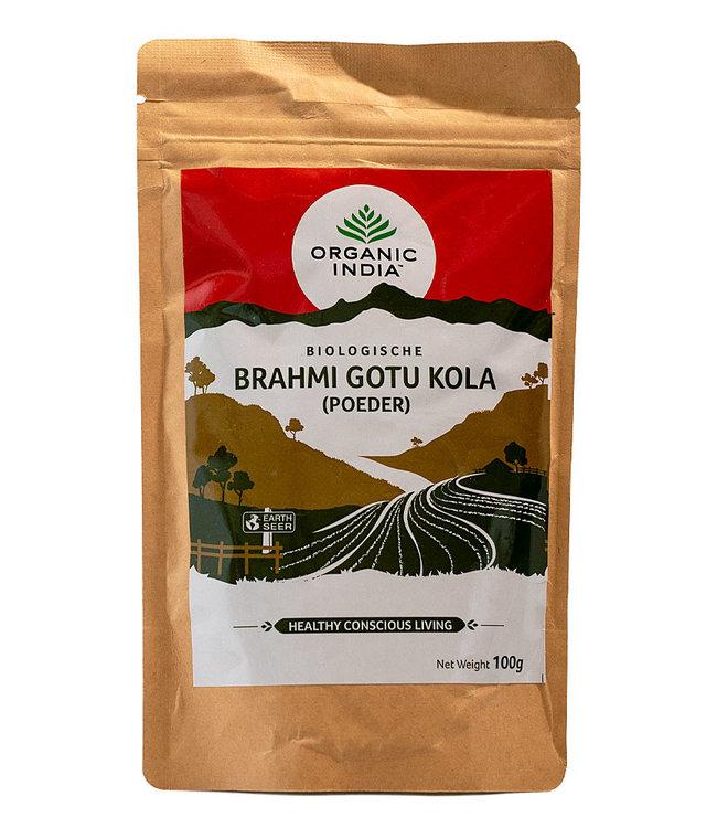 Organic India Brahmi~Gotu Kola poeder biologisch 100 g