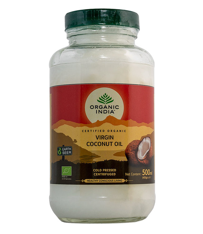 Organic India Coconut oil, cold processed, extra virgin 500 ml