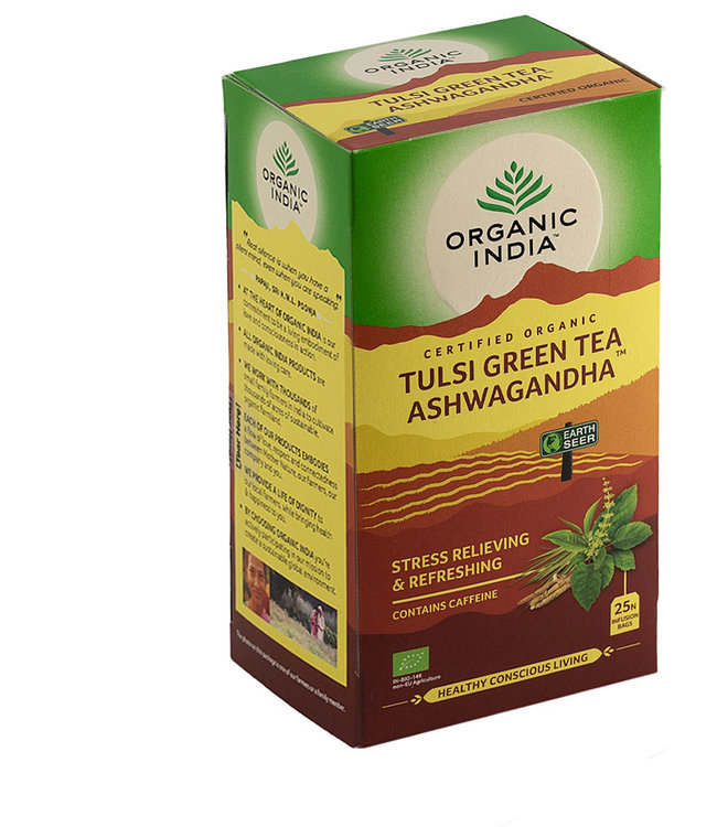 Organic India biologische Tulsi Green Ashwagandha