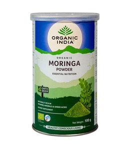 Organic India Moringa powder biologisch 100 g can
