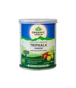 Organic India Triphala powder biologisch 100 g can
