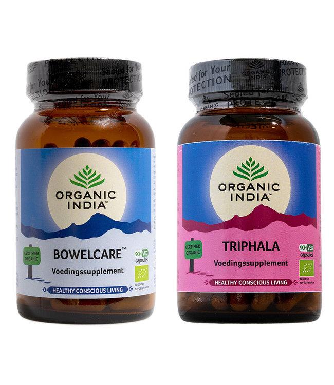 Organic India Combi Triphala en Bowelcare biologische supplementen