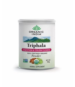 Organic India Triphala powder biologisch 100 g can