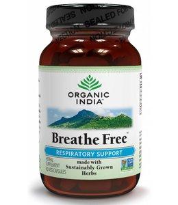 Organic India Breathe Free 90 capsules 100% biologisch
