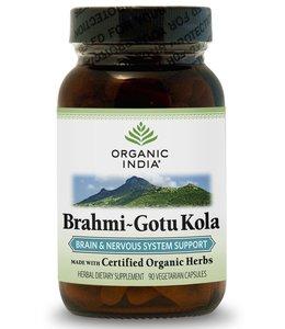 Organic India Brahmi~Gotu Kola 90 capsules 100% biologisch