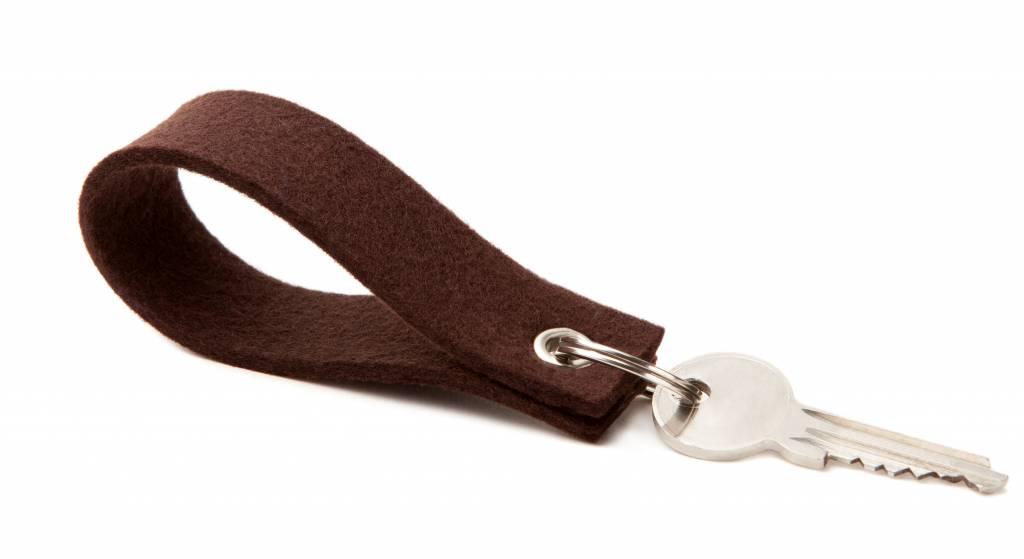 Keychain Dark-Brown square-1