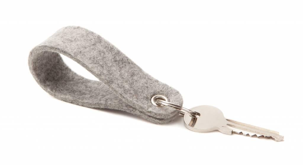 Keychain Light-Grey round-1