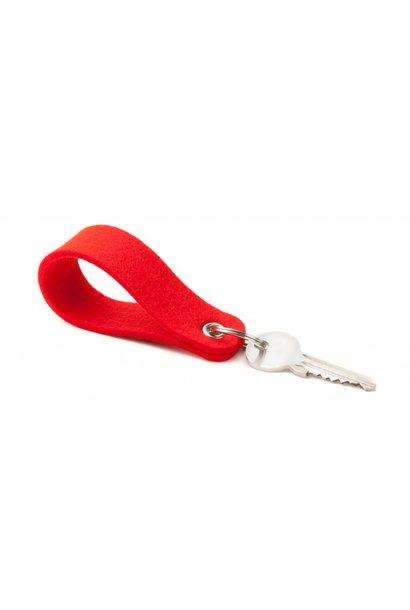 Schlüsselanhänger Hellrot rund