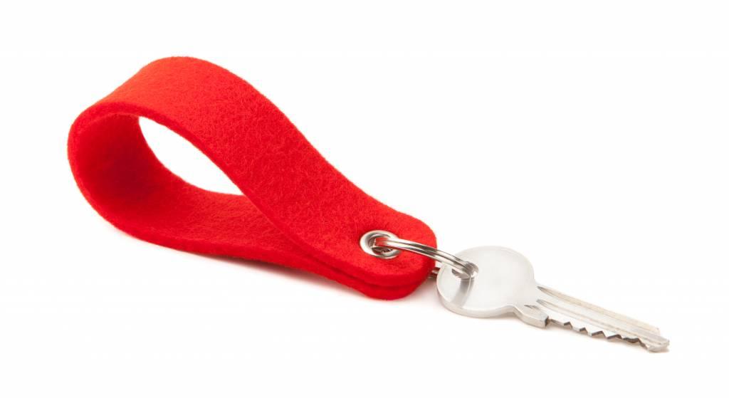Schlüsselanhänger Hellrot rund-1