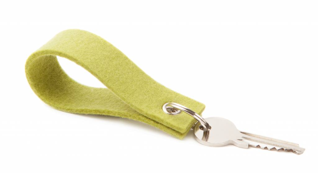 Keychain Lime-Green square-1