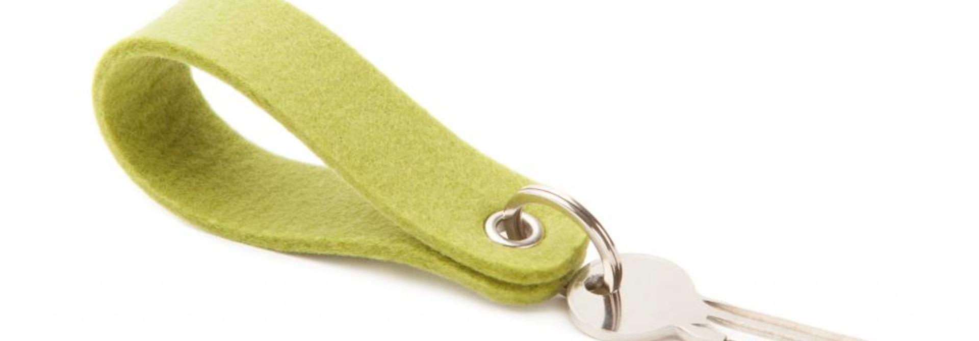 Schlüsselanhänger Lindgrün rund