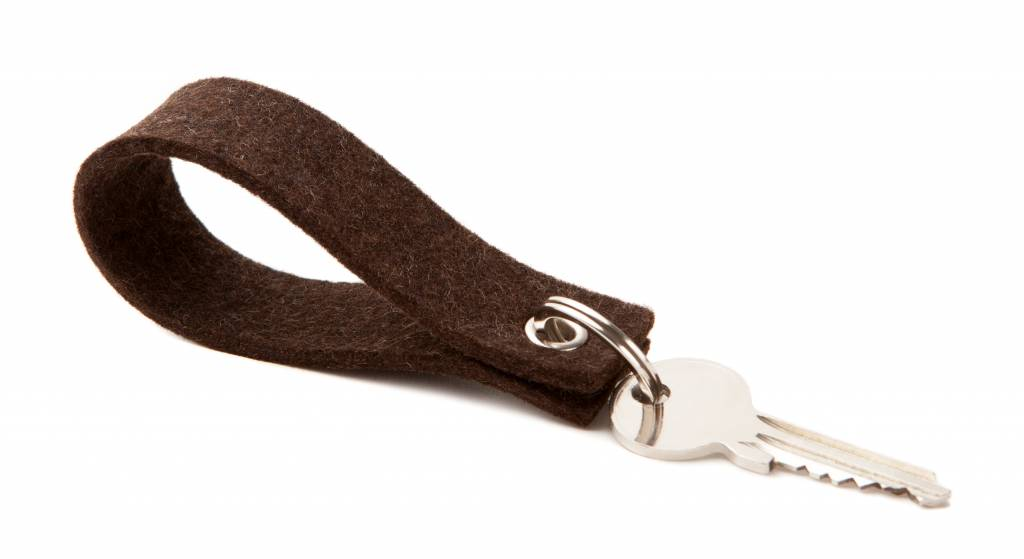 Keychain Truffle-Brown square-1