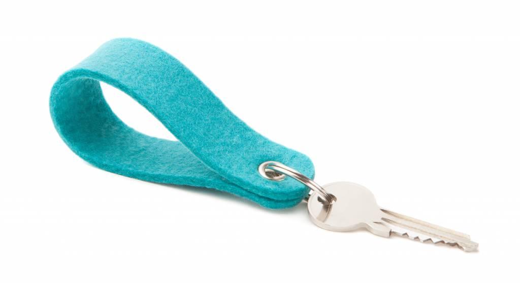 Keychain Turquoise round-1