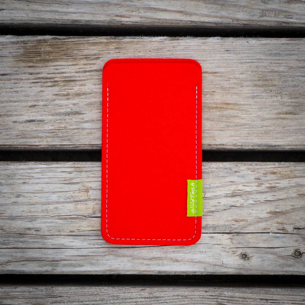 iPhone Sleeve Hellrot-2