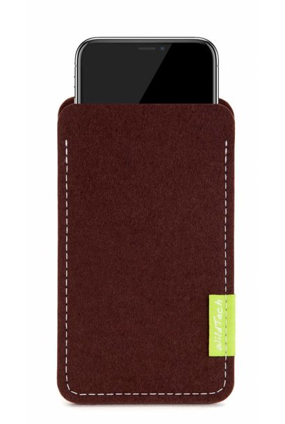 iPhone Sleeve Dunkelbraun