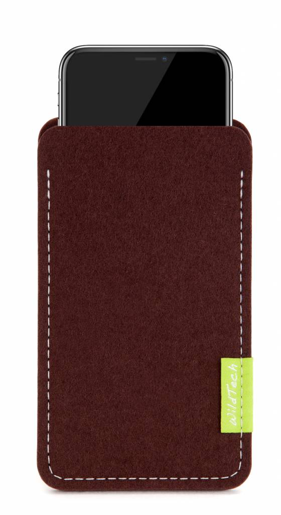 iPhone Sleeve Dunkelbraun-1