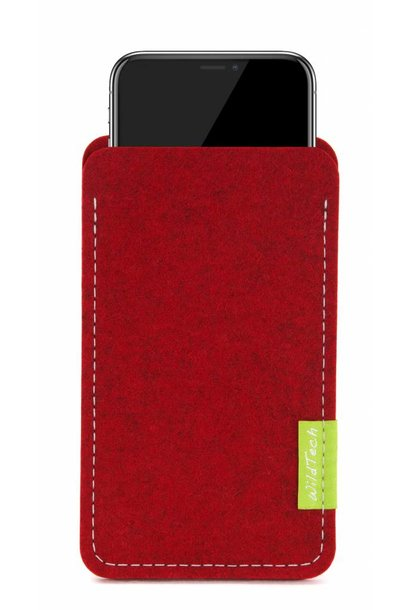 iPhone Sleeve Kirschrot