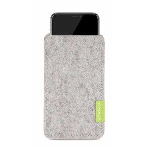 iPhone Sleeve Hellgrau