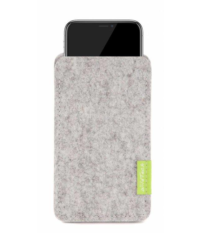 Apple iPhone Sleeve Hellgrau