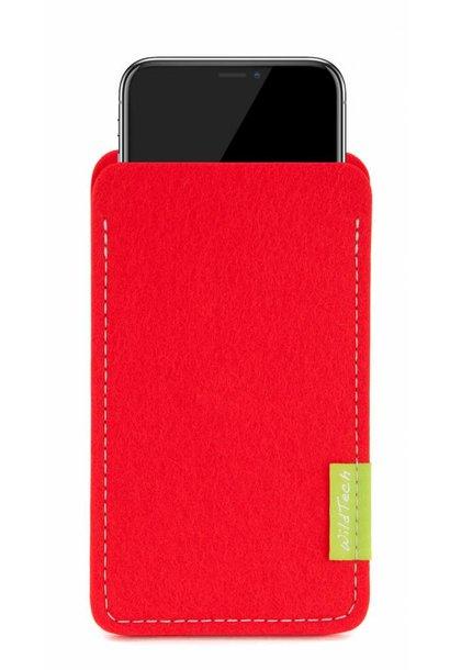 iPhone Sleeve Hellrot