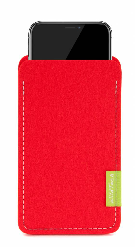 iPhone Sleeve Hellrot-1
