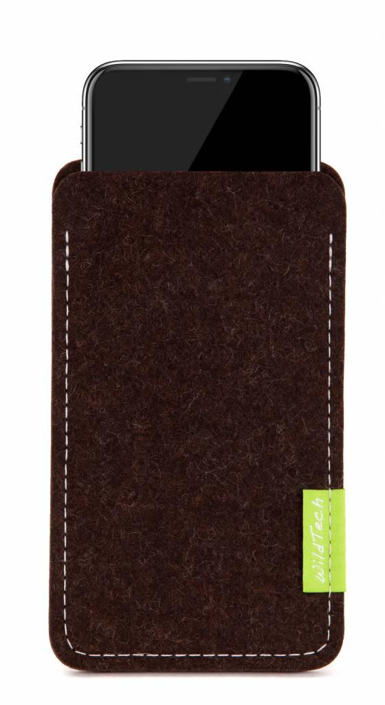 iPhone Sleeve Trüffelbraun-1