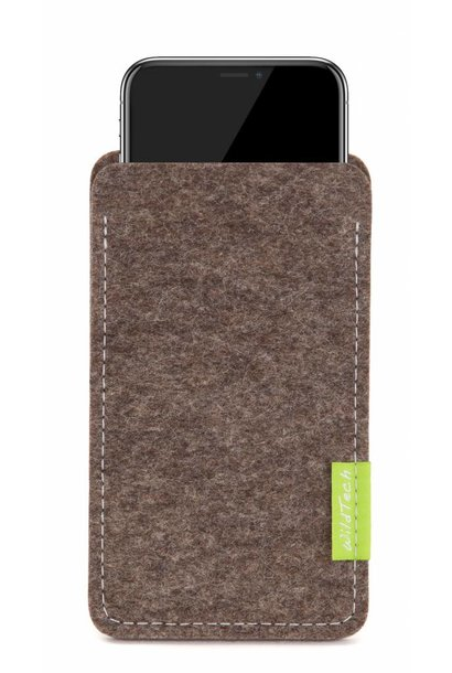 iPhone Sleeve Natur-Meliert