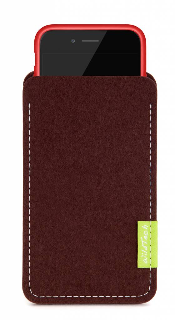 iPhone Sleeve Dunkelbraun-3