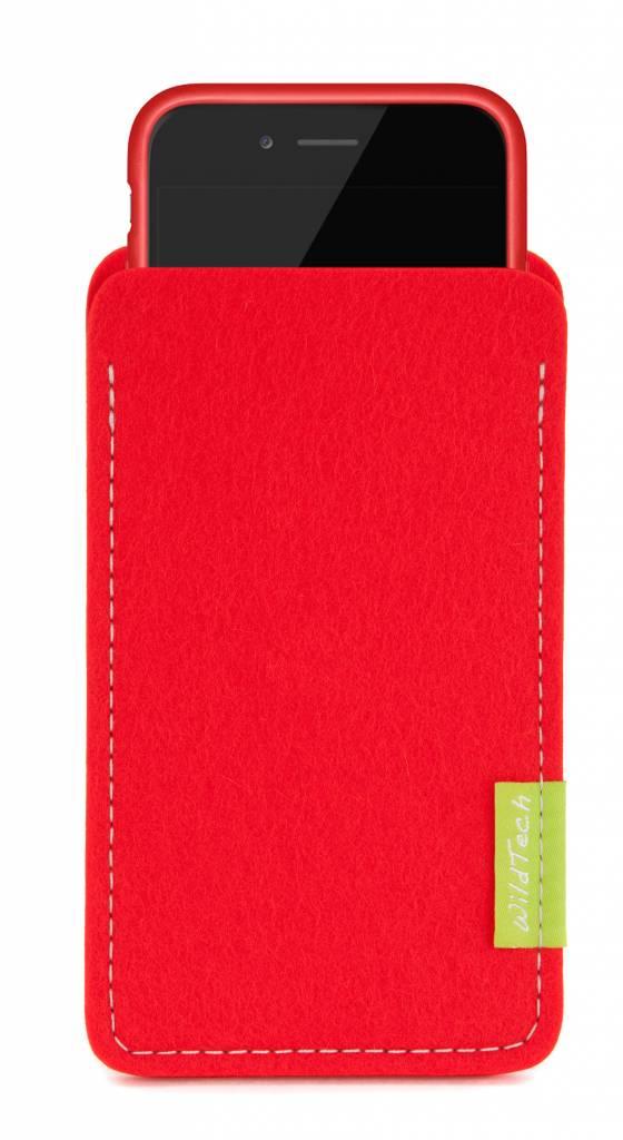 iPhone Sleeve Hellrot-3