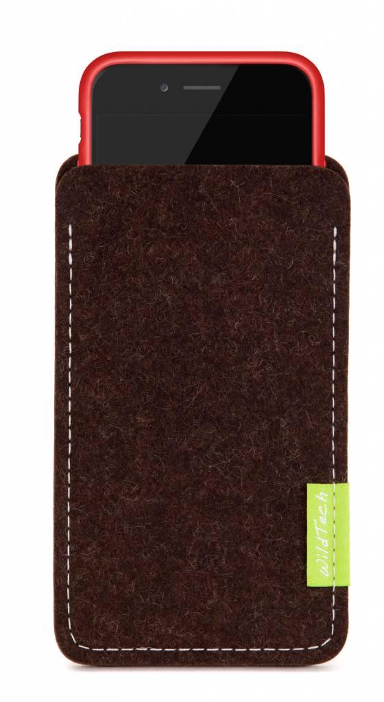 iPhone Sleeve Trüffelbraun-3