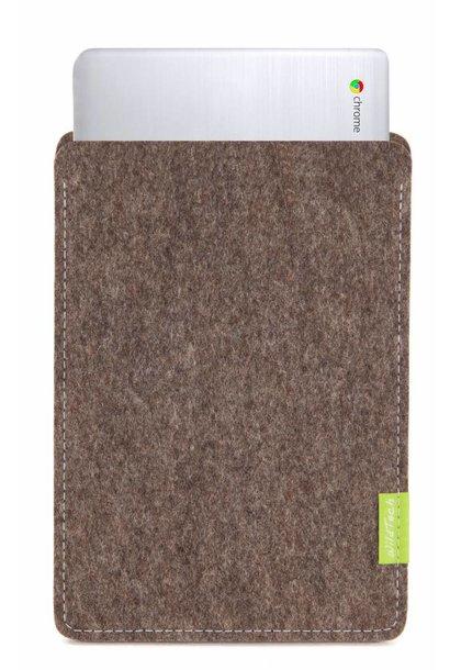 Chromebook Sleeve Natur-Meliert