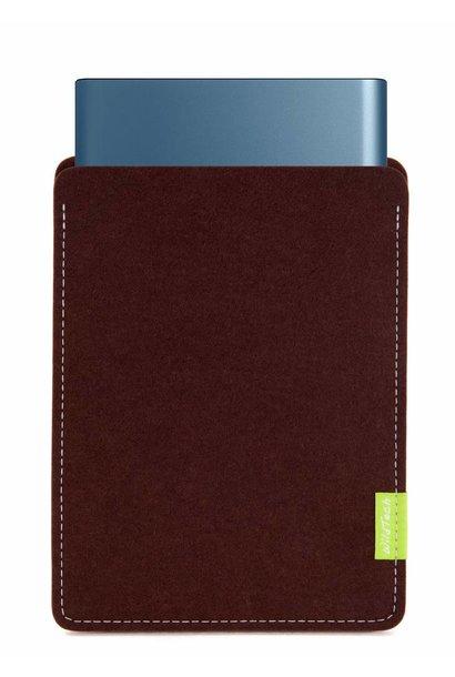 Portable SSD Sleeve Dunkelbraun