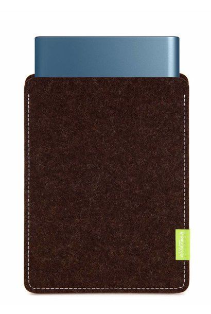 Portable SSD Sleeve Truffle-Brown