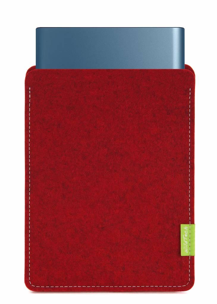 Portable SSD Sleeve Kirschrot-1