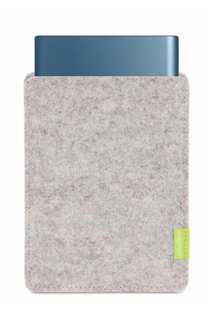 Portable SSD Sleeve Hellgrau