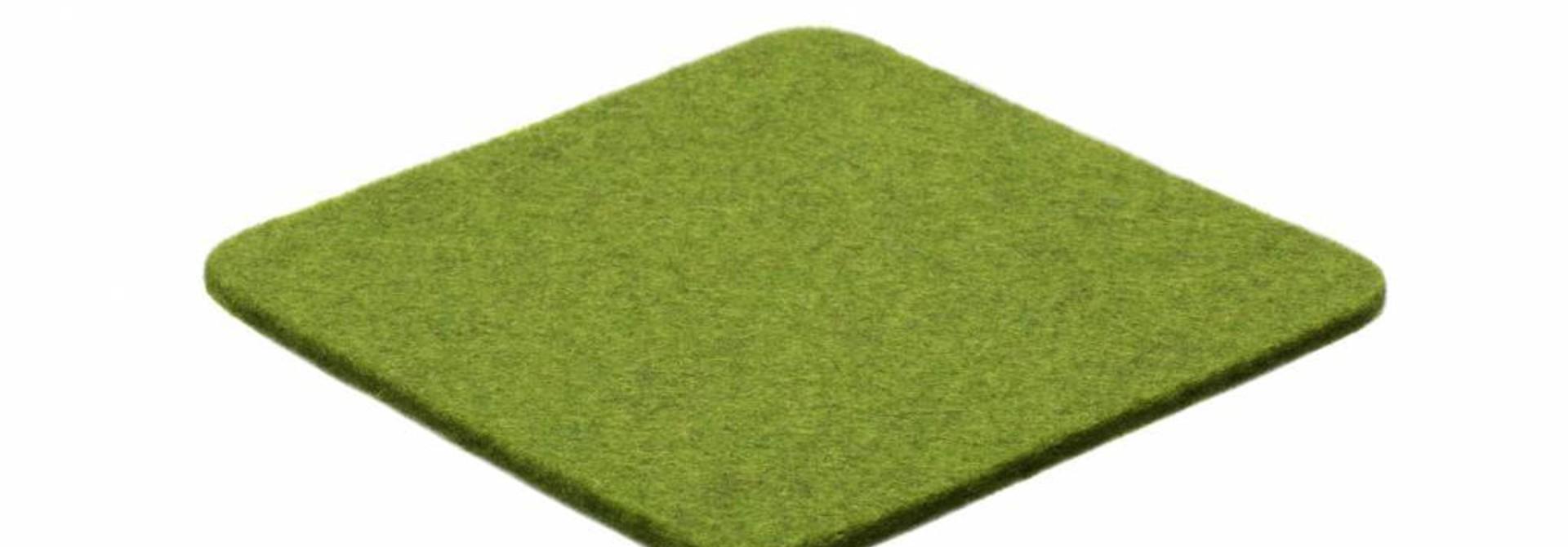 Farn-Green felt coaster