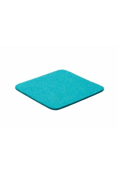 Turquoise felt coaster