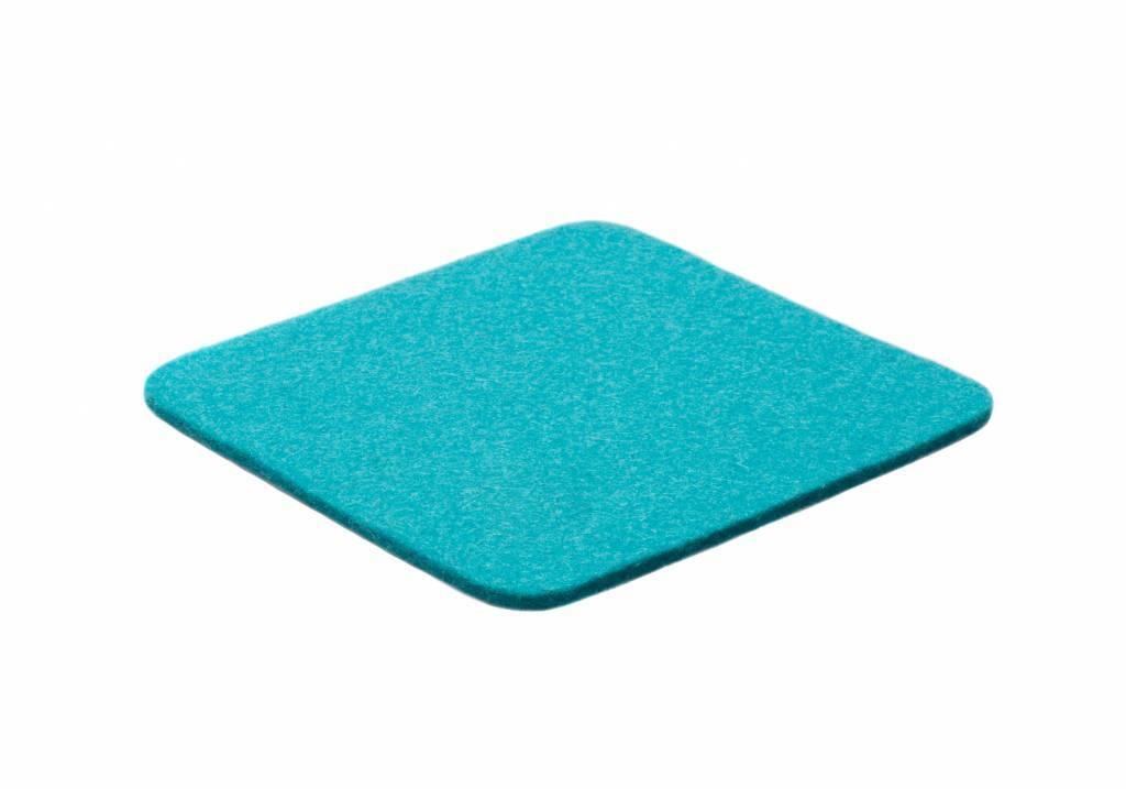 Turquoise felt coaster-1