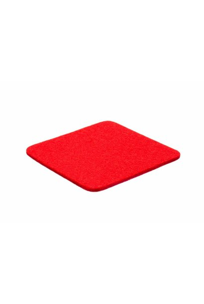 Bright-Red felt coaster