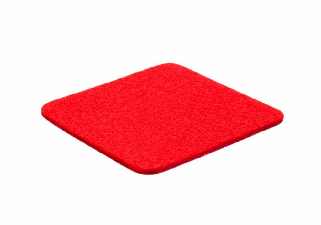 Bright-Red felt coaster-1