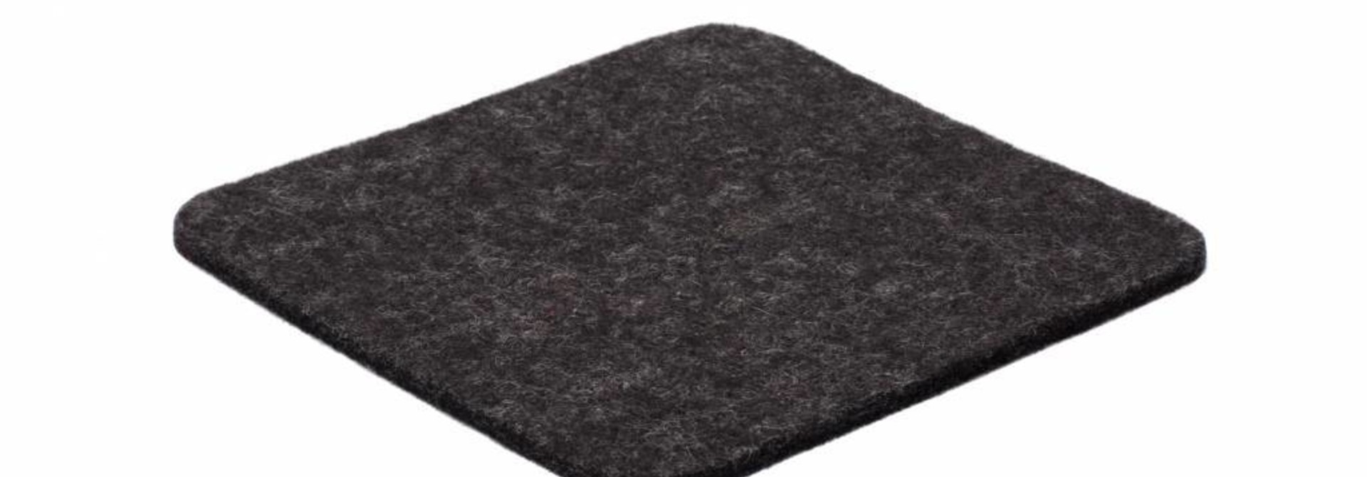 Anthracite felt coaster