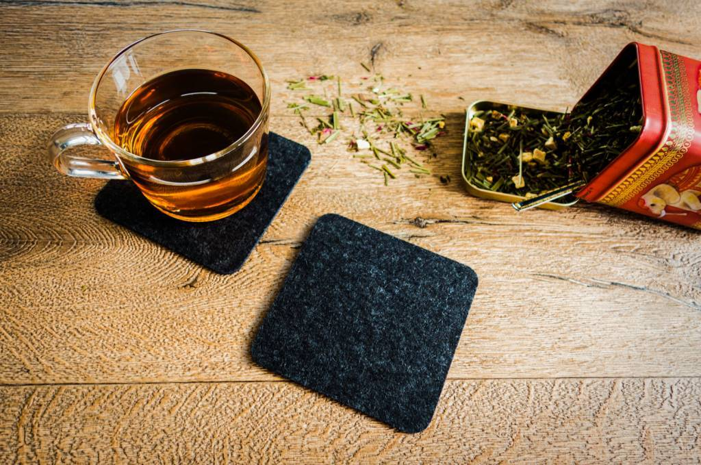 Anthracite felt coaster-2