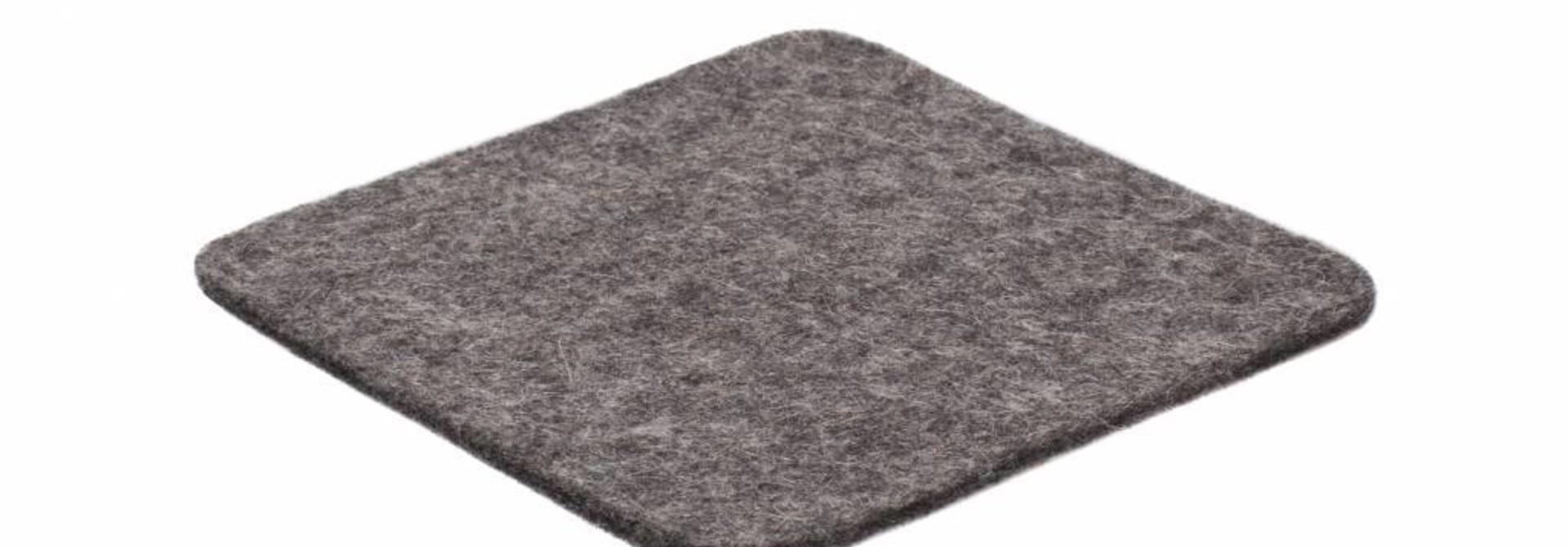 Grey felt coaster