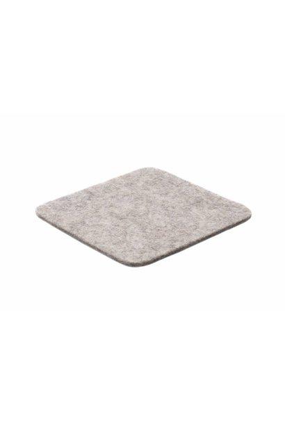 Light-Grey felt coaster