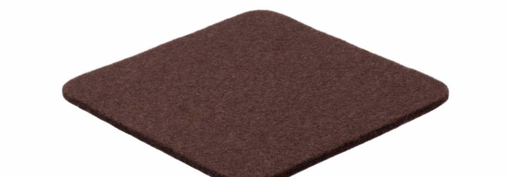Dark-Brown felt coaster