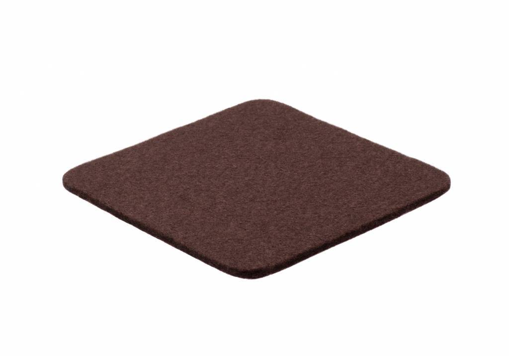 Dark-Brown felt coaster-1